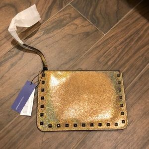 Gold Rebecca Minkoff clutch (never been used)